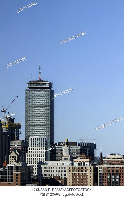 The Prudential Center and other buildings in downtown Boston, Massachusetts, United States