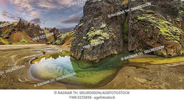 Jokulgilskvisl river in Landmannalaugar, Iceland