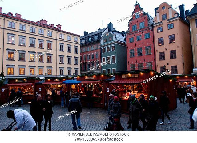 Stortorgets Julmarknad, Christmas market, Borsen, Stockholm, Sweden