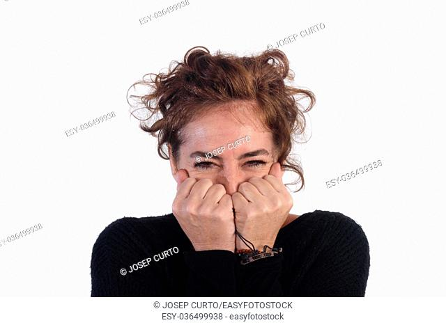 Woman with scary face