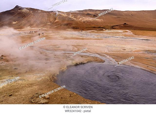 Namafjall Geothermal Area in Iceland, Europe