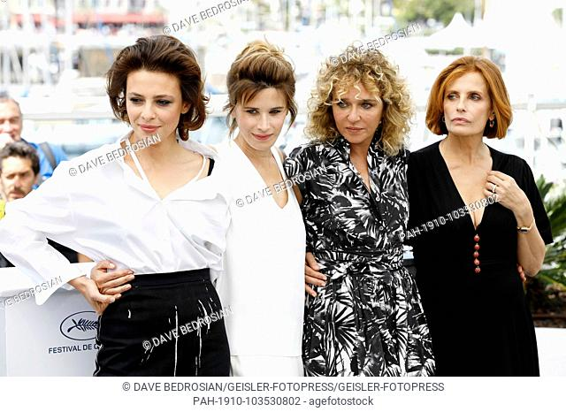 Jasmine Trinca, Valentina Cervi, director Valeria Golino and Isabella Ferrari at the 'Euforia' photocall during the 71st Cannes Film Festival at the Palais des...