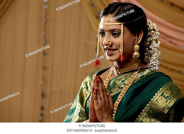 Maharashtrian bride greeting