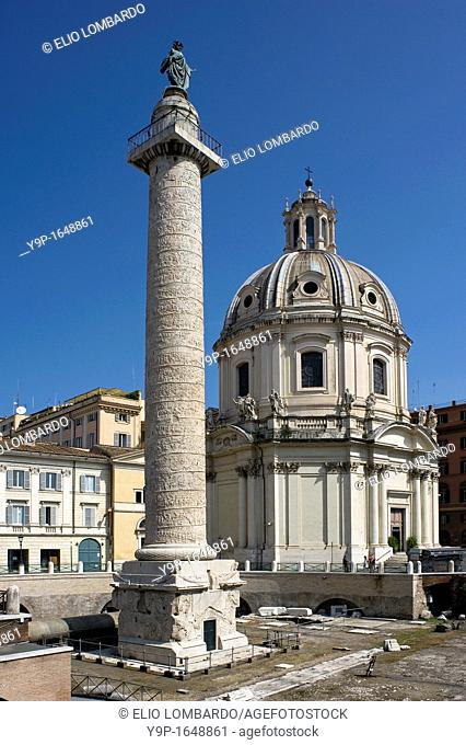 Trajan's Column, Trajan's Forum, Rome, Lazio, Italy