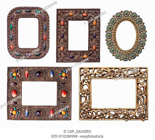 Ornamental metal picture frames pack