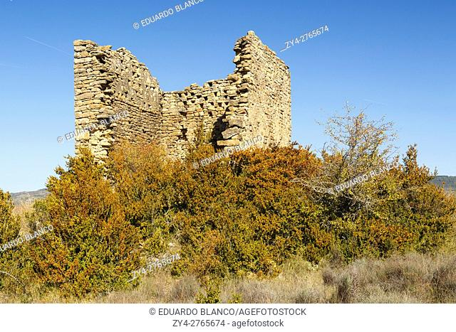 Ruins of Santa Criz Roman city. Eslava city. Navarra. Spain. The Santa Criz archaeological site is one of the best preserved examples in Navarre and has been...