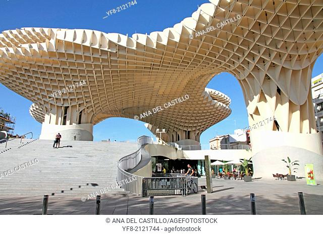 The world's largest wooden sculpture nicknamed 'The Mushrooms'