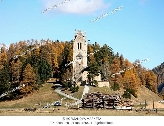 ski, holiday, resort, church, San Gian, Celerina CTK Photo/Marketa Hofmanova