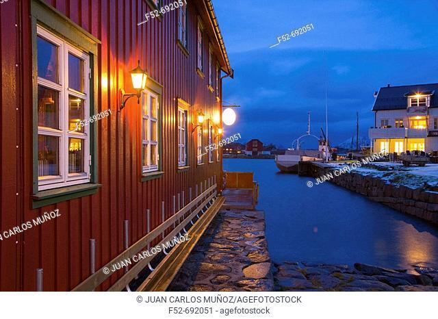 Kabelvag, Austvagoy. Lofoten Islands, Norway