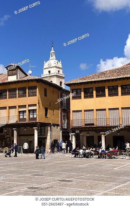 Main Square of Tordesillas, Valladolid province, Castilla-León, Spain