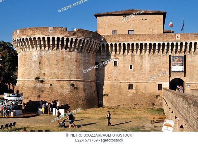 Senigallia (Ancona, Italy): the Rocca Roveresca (Castle of the Della Rovere family)