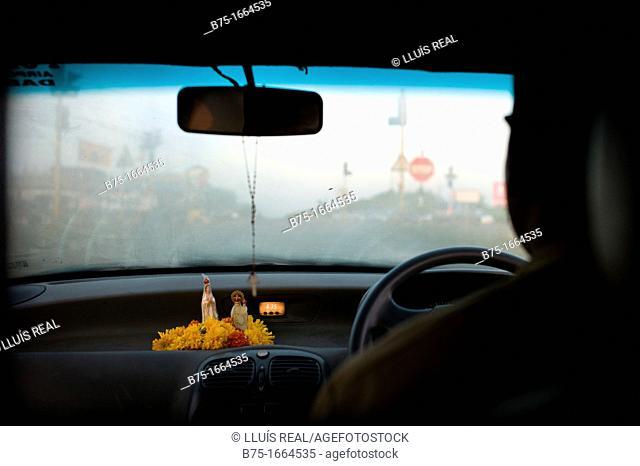taxi driver in Goa, India, Asia