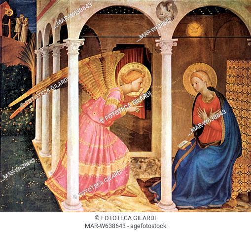 BEATO ANGELICO (1395-1455) Pala dell'Annunciazione. Stampa facsimile dal dipinto, Cortona XV secolo,,Copyright © Fototeca Gilardi