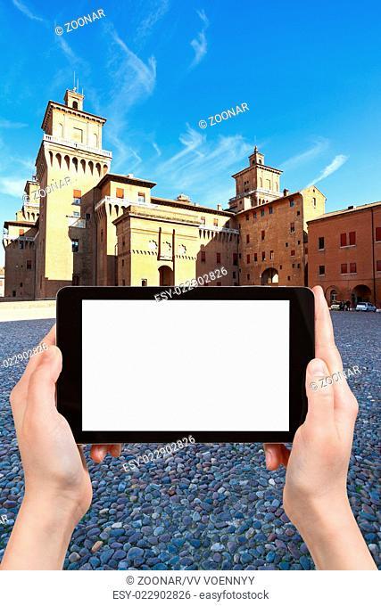 tourist photographs of Piazza Castello in Ferrara