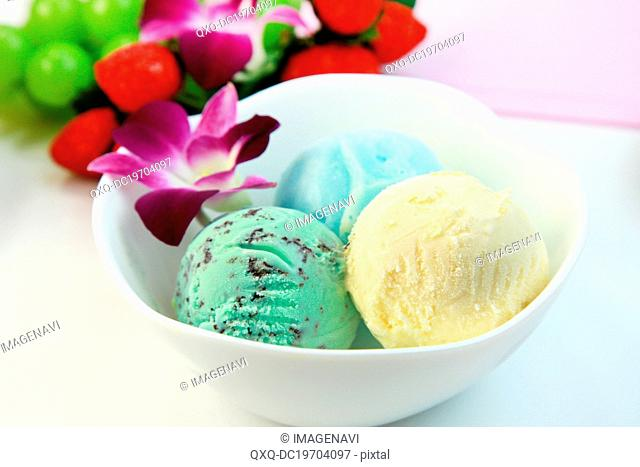 Assorted ice creams