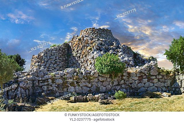 Picture and image of the prehistoric magalith ruins of Nuraghe Arrubiu ( Red Nuraghe), archaeological site, Bronze age (14 -9 th century BC)