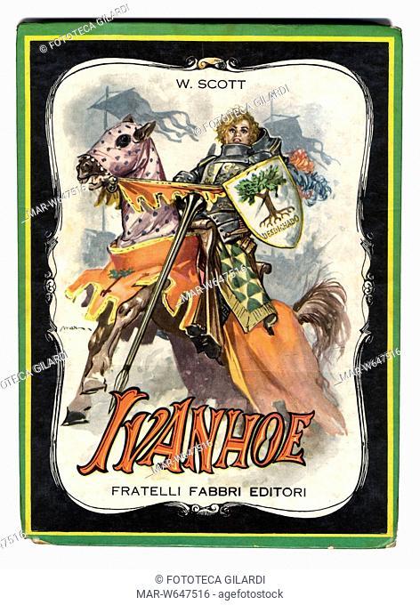 sir Walter SCOTT (1771-1832) 'Ivanhoe' (1819) romanzo storico, copertina illustrata di Libico Maraja (1912-1983) pittore, disegnatore e illustratore