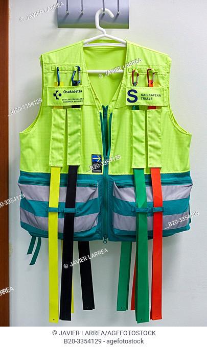 Triage vest, Triage of emergencies and emergencies, Primary care, Egia Health Center, Donostia, San Sebastian, Gipuzkoa, Basque Country, Spain