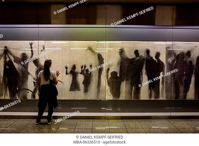 Art project in an underground station in Athens, Greece