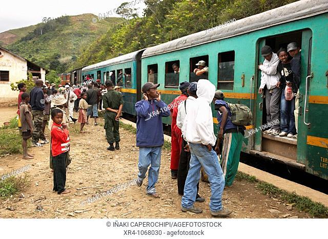 Railway station, Madiorano, Fianarantsoa, Madagascar