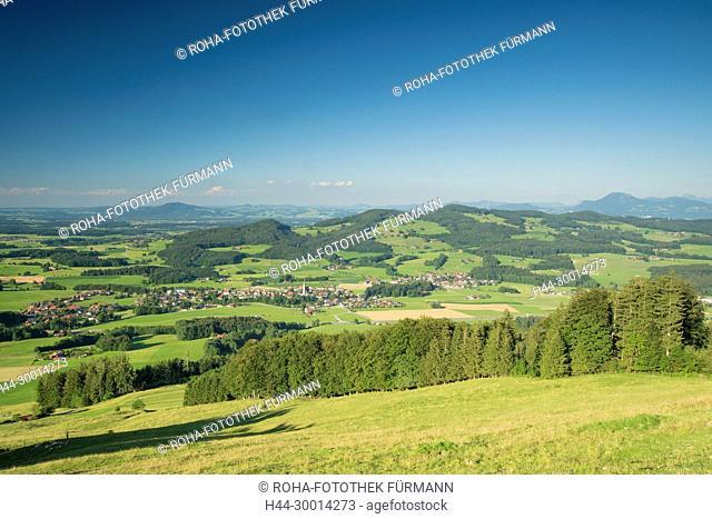 Panorama über Anger mit dem Högl