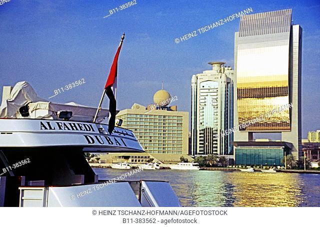 Vereinigte Arabische Emirate, VAE, United arab emirates, UAE, Stadt Dubai, Stadtteil Daira, Skyline, am Khor Dubai, Creek, Architektur, Hochhäuser