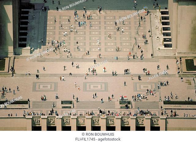 Palais de Chaillot as seen from Eiffel Tower, Paris, France