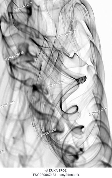 Abstract dark smoke