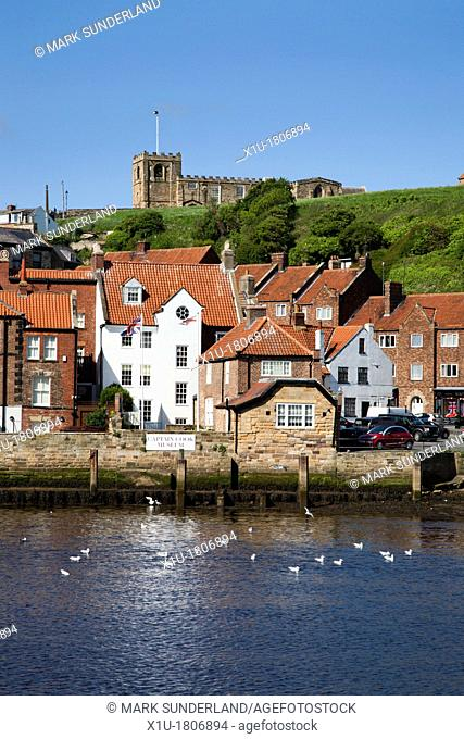 Captain Cook Museum below St Marys Church at Whitby