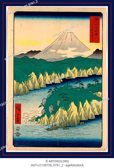 Hakone no kosui, The lake in Hakone., Ando, Hiroshige, 1797-1858, artist, 1858., 1 print : woodcut, color ; 36 x 24.7 cm