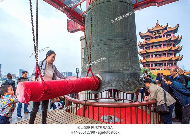 China, Wuhan City, Yellow Crane Tower