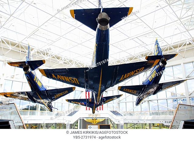 Blue Angels on Display at the Naval Air Museum