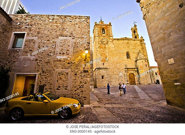 Church of Saint Matthew, Iglesia de san Mateo, San Mateo square, Old Town of Cáceres, World Heritage City by UNESCO, Caceres City, Cáceres Province, Extremadura
