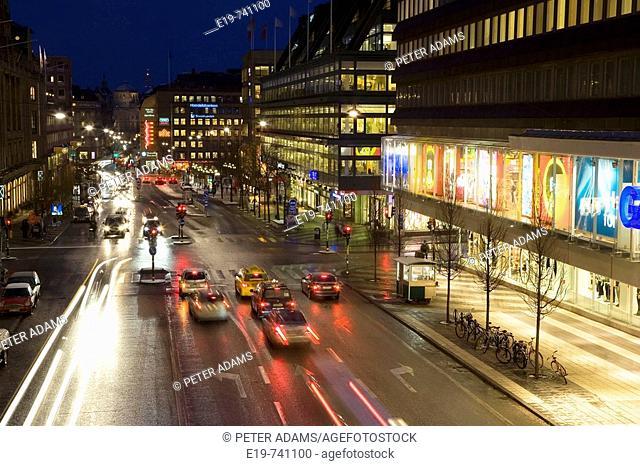 Hamngatan shopping street, Stockholm, Sweden