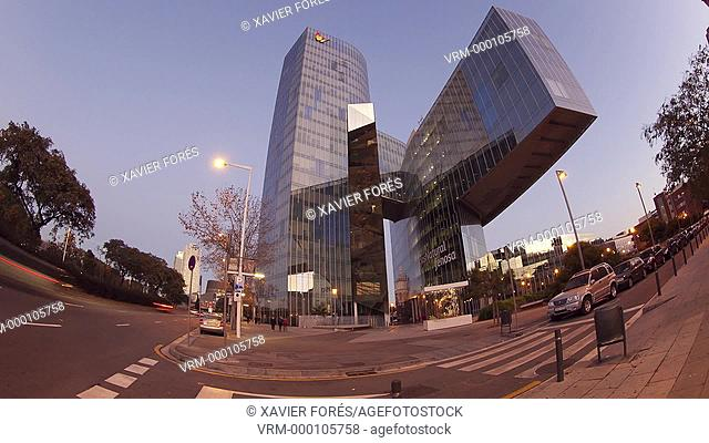 Building Mare Nostrum, which is the headquarters of Gas Natural Fenosa company in Barceloneta, Barcelona, Spain