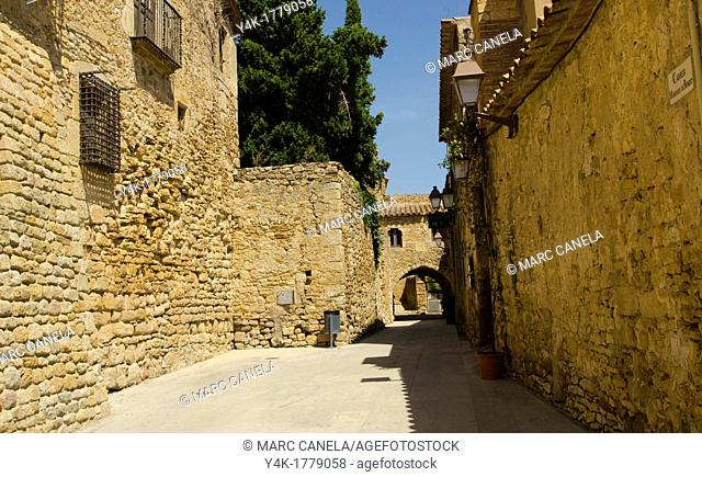 Europe, Spain, Girona, Peratallada, is a town in the municipality of Forallac, in the county of Baix Empordà, in Catalonia
