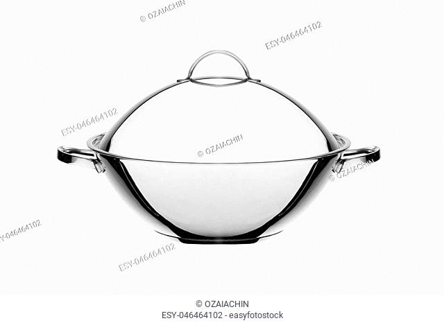 closed cloche of restaurant on white background