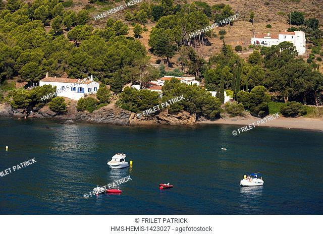 Spain, Catalonia, Costa Brava, Natural Park of Cabo de Creus, Rosas, the beach of Cala Montjoi