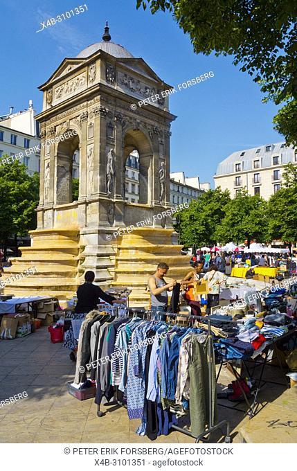 Flea market, Place Joachim du Bellay, Les Halles, Paris, France