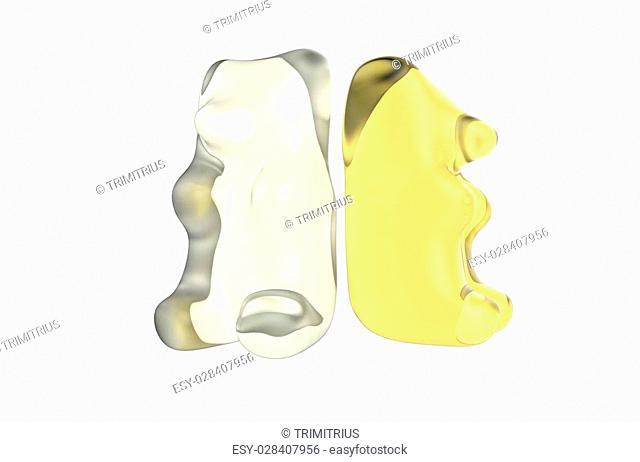 Two Yellow Gummy Bears