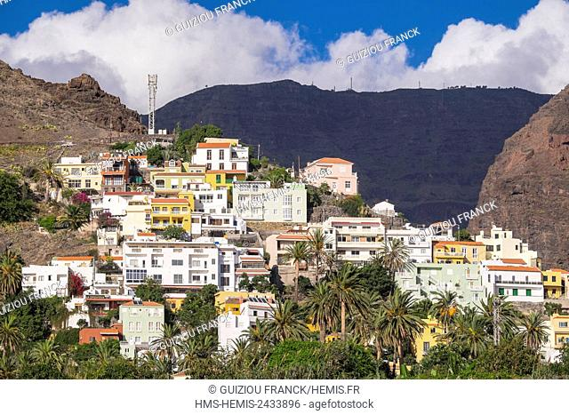 Spain, Canary Islands, La Gomera island declared a Biosphere Reserve by UNESCO, Valle Gran Rey is the most popular searesort of the island, La Calera area