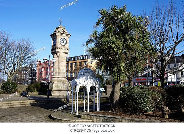 the Mc Kee clock and sunken gardens Bangor Northern Ireland