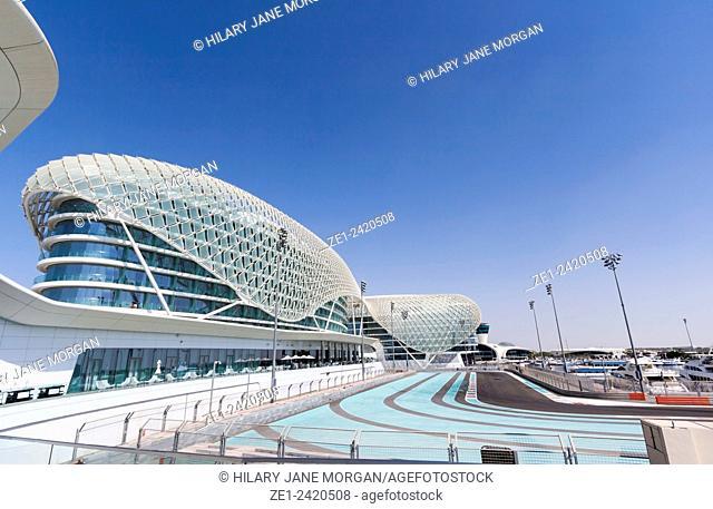 Abu Dhabi, United Arab Emirates. The FI Yas Marina Circuit