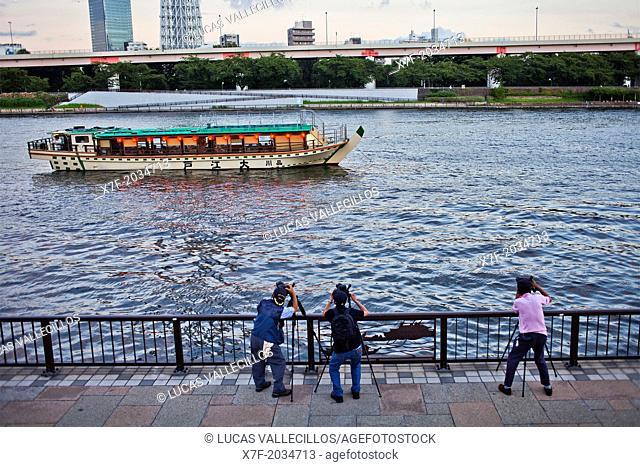 photographs.Sumidagawa river, Asakusa District, Tokyo, Japan