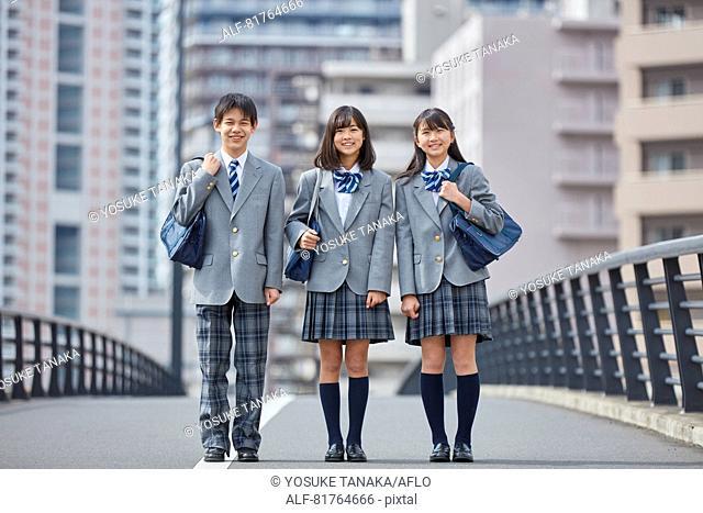 Japanese junior high students