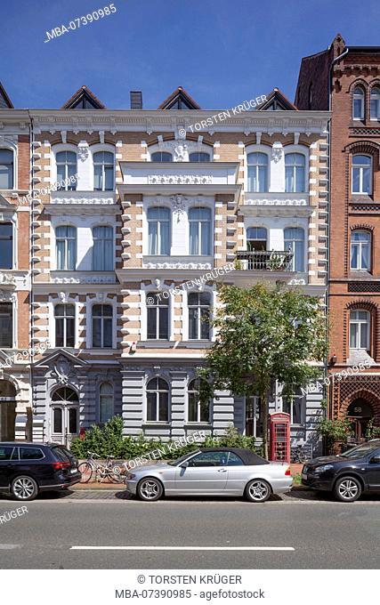 Old residential building in Bödeckerstraße, Hannover, Lower Saxony, Germany, Europe