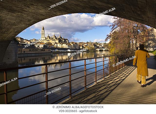 Saint Front Cathedral, Pilgrimage way to Santiago de Compostela, UNESCO World Heritage site, Isle River, Périgueux. Dordogne, Aquitaine