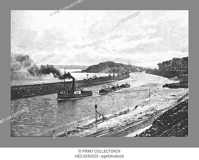 Manchester Ship Canal, Above Easton,c1900. Artist: H Garside