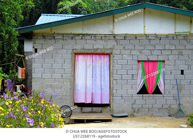 A Malay house at Kampung Dugu, Lundu, Sarawak, Malaysia