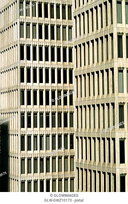 Closeup of high rise office building, Atlanta, GA